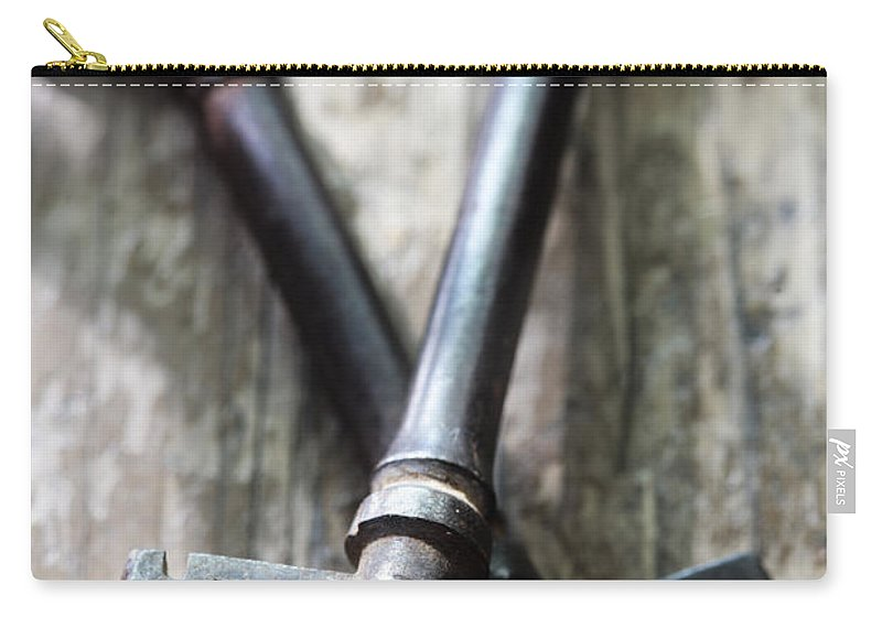 Keys Carry-all Pouch featuring the photograph Old Keys by Neil Overy