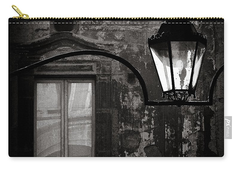 Naples Carry-all Pouch featuring the photograph Old Lamp by Dave Bowman