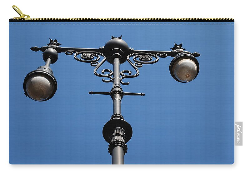 Lamppost Carry-all Pouch featuring the photograph Old Lamppost by Rob Hans