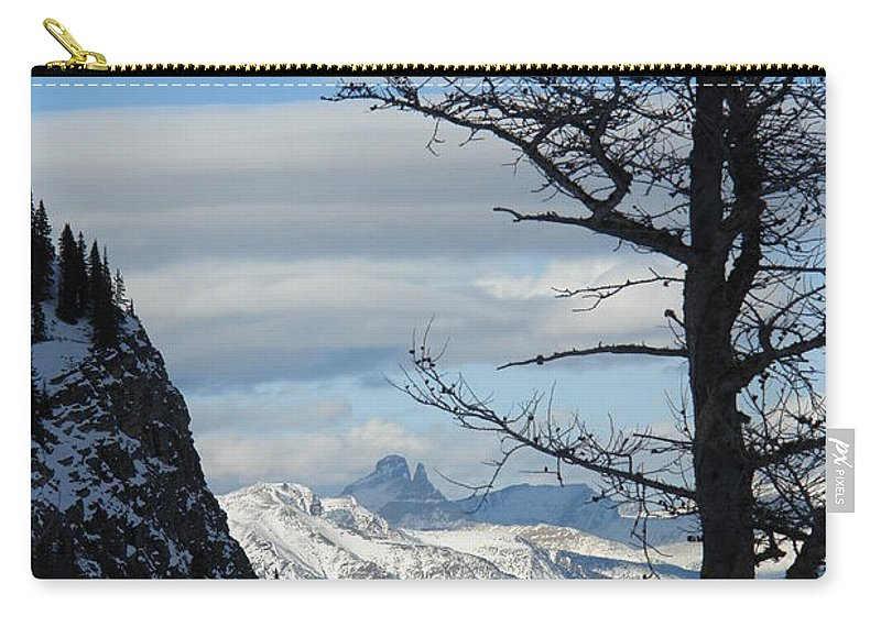 Old Larch Tree Carry-all Pouch featuring the photograph Old Larch Tree Has Best View by Greg Hammond