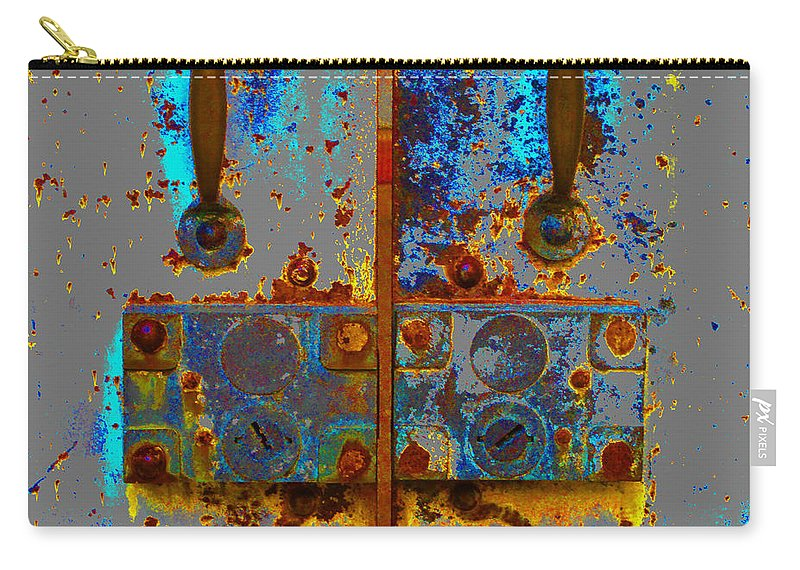 Door Lock Carry-all Pouch featuring the photograph Old Lock by Ed Ostrander