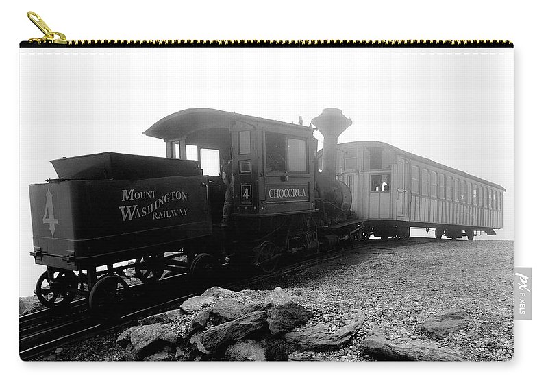 Train Carry-all Pouch featuring the photograph Old Locomotive by Sebastian Musial