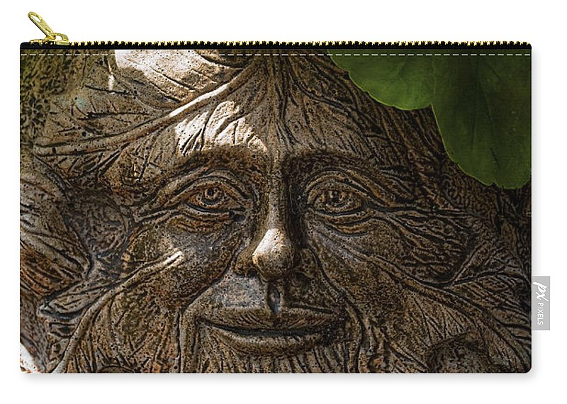 Face Carry-all Pouch featuring the photograph Old Man In The Garden by Christopher Holmes