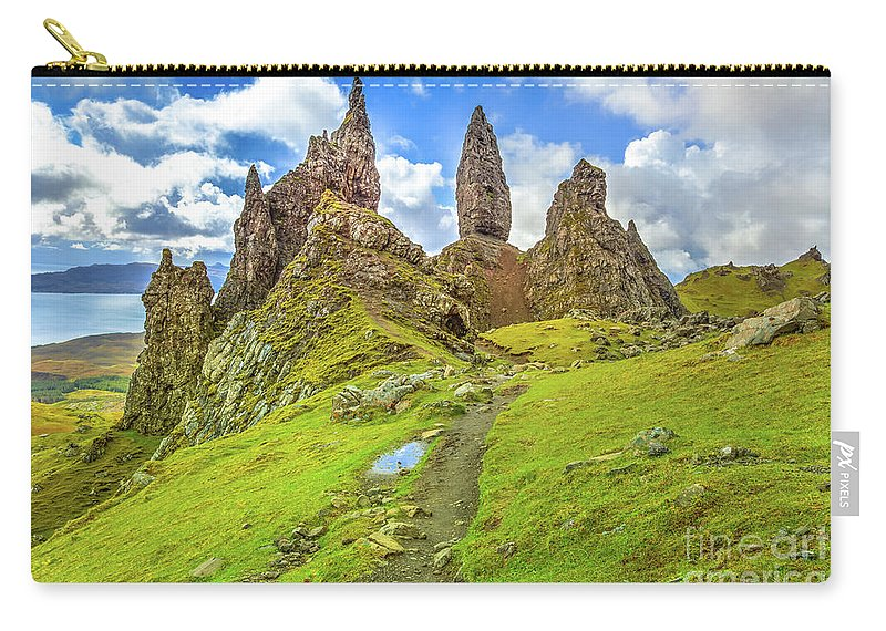 Isle Of Skye Carry-all Pouch featuring the photograph Old Man Of Storr Pinnacles by Benny Marty