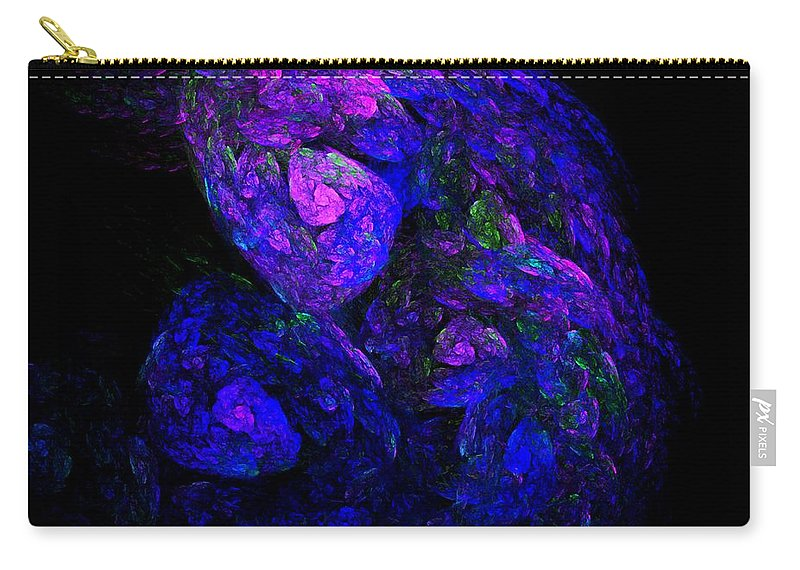 Abstract Digital Photo Carry-all Pouch featuring the digital art Old Man Take A Look At Yourself by David Lane