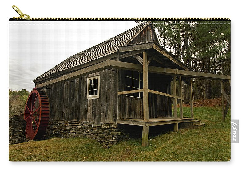 vermont Images Carry-all Pouch featuring the photograph Old Mill by Paul Mangold