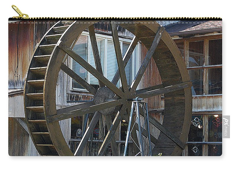 Water Carry-all Pouch featuring the digital art Old Mill Store Entry To Caverns by DigiArt Diaries by Vicky B Fuller