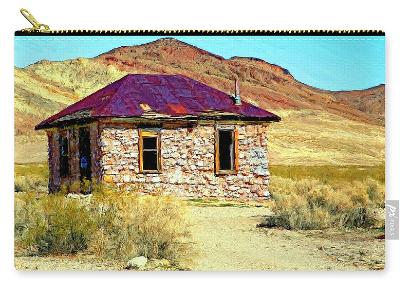 Bordello Carry-all Pouch featuring the painting Old Nevada Bordello by Dominic Piperata