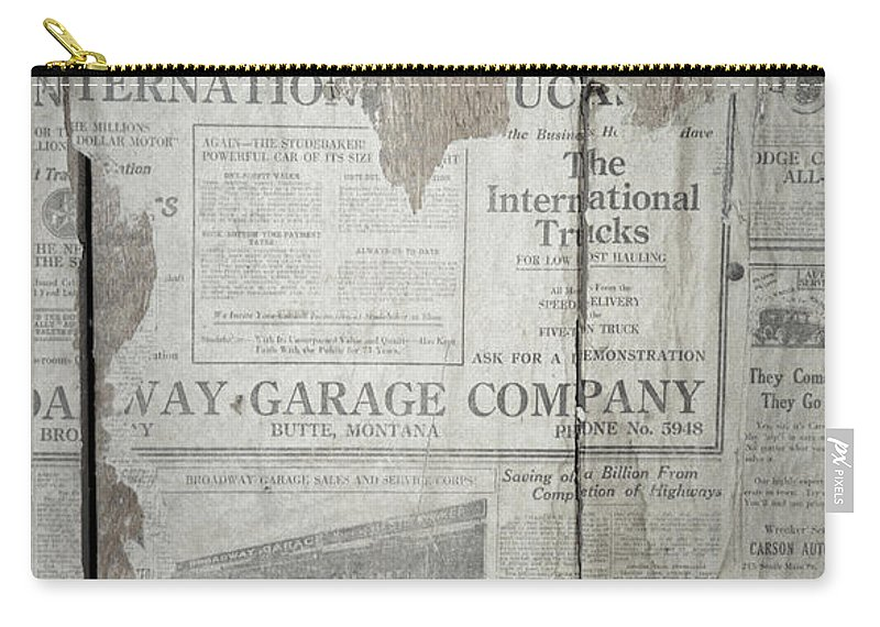Newspapers Carry-all Pouch featuring the photograph Old News by Richard Rizzo