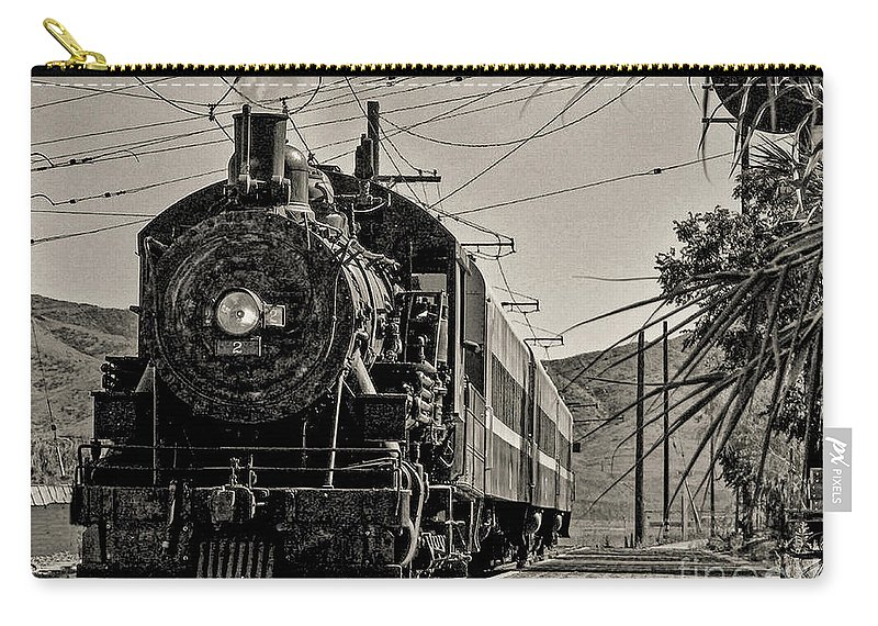 Locomotive Carry-all Pouch featuring the photograph Old Number 2 by Tommy Anderson