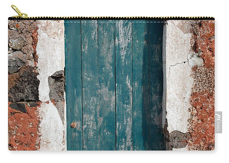 Abandoned Carry-all Pouch featuring the photograph Old Painted Door by Gaspar Avila