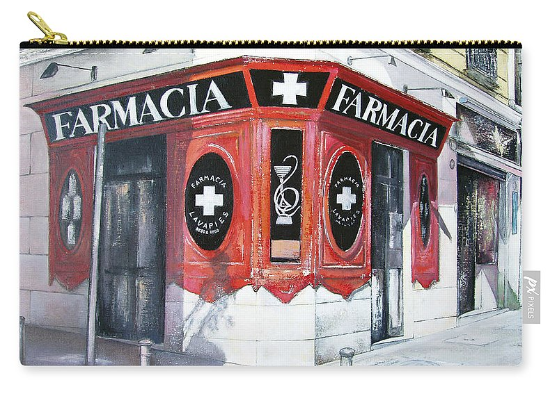 Pharmacy Carry-all Pouch featuring the painting Old Pharmacy by Tomas Castano