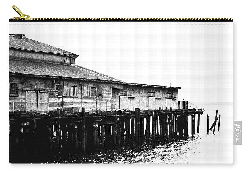 History Carry-all Pouch featuring the photograph Old Pier by Karen Ulvestad