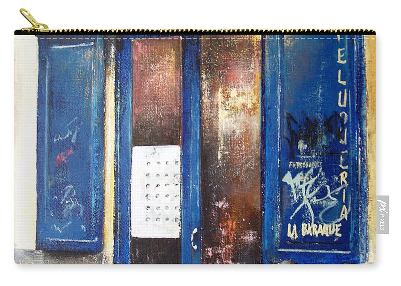 Old Carry-all Pouch featuring the painting Old Plumbing-Madrid by Tomas Castano