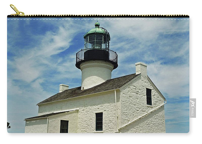 Old Point Loma Lighthouse Carry-all Pouch featuring the photograph Old Point Loma Lighthouse by Methune Hively