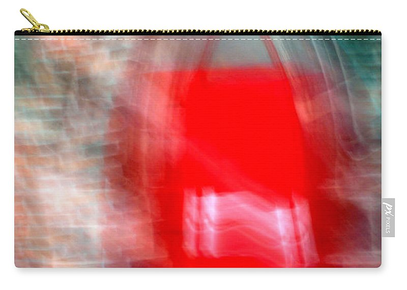 Red Carry-all Pouch featuring the photograph Old Red Door Abstract by Anthony Jones