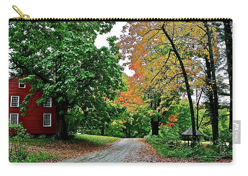 Country Carry-all Pouch featuring the photograph Old Red House by Diana Hatcher