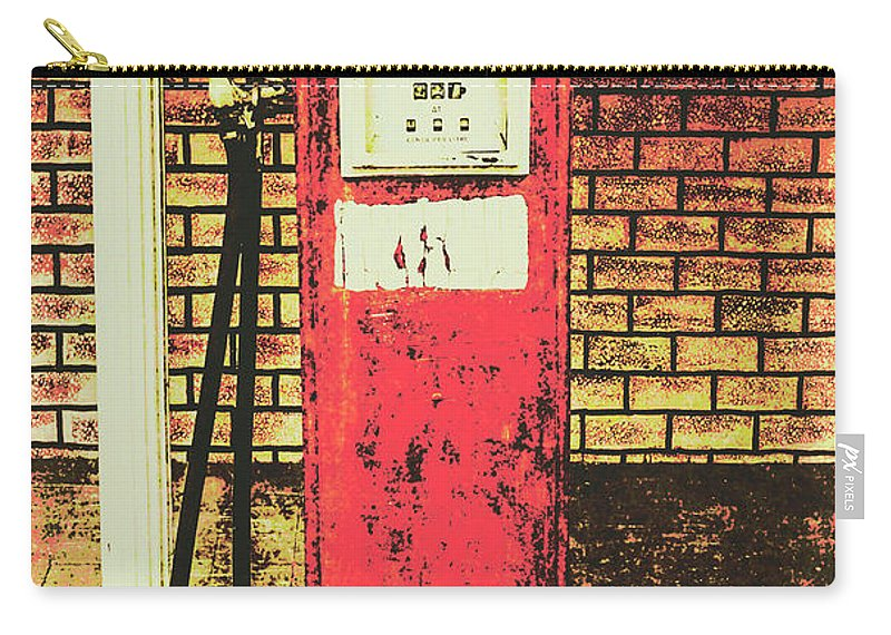 Petrol Carry-all Pouch featuring the photograph Old Roadhouse Gas Station by Jorgo Photography - Wall Art Gallery
