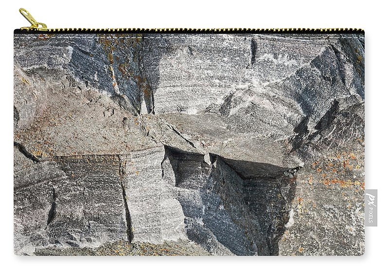 Abstract Carry-all Pouch featuring the photograph Old Rock Background by Tom Gowanlock