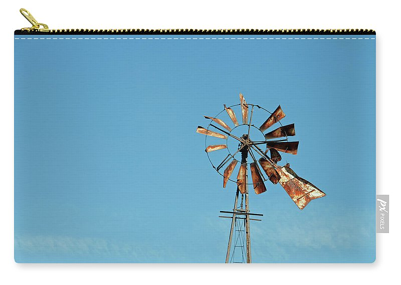 Windmill Carry-all Pouch featuring the photograph Old Rusty by David Arment