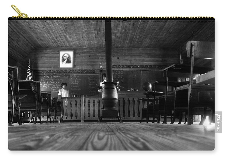 School House Carry-all Pouch featuring the photograph Old School by David Lee Thompson