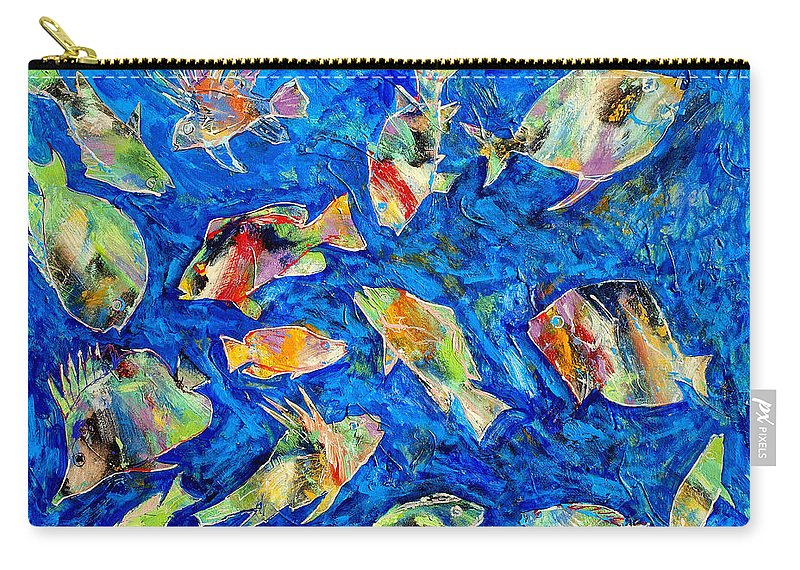 Fish Carry-all Pouch featuring the painting Old School by Dominic Piperata