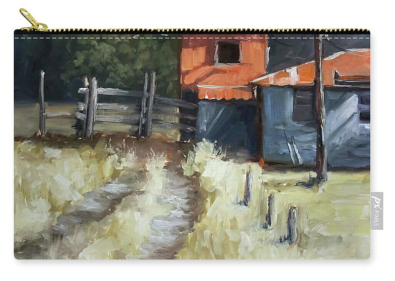 Shack Carry-all Pouch featuring the painting Old Shack by Melissa Herrin