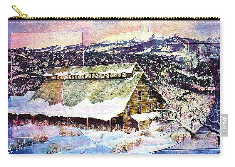 Barn Carry-all Pouch featuring the painting Old Stelty Packing Shed by Connie Williams