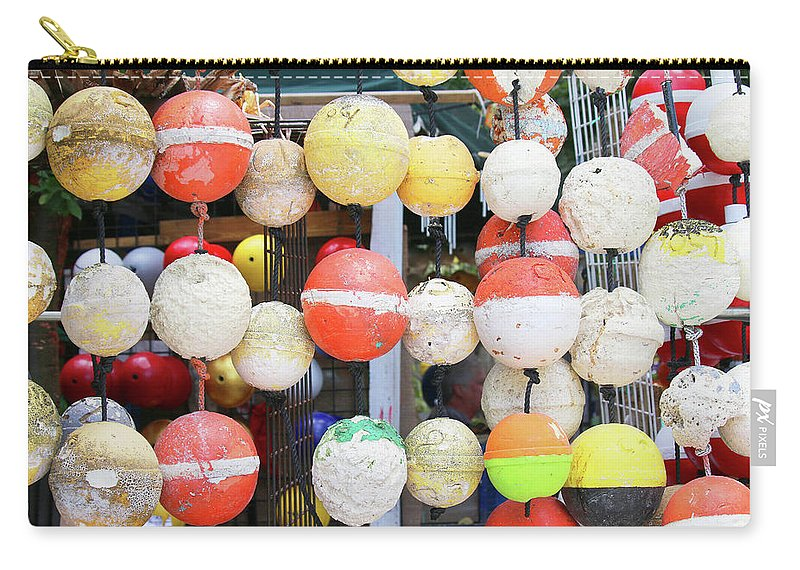 Key Largo Carry-all Pouch featuring the photograph Old Styrofoam Floats by Art Block Collections