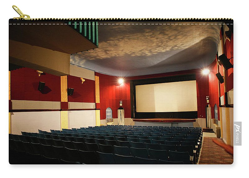 Americana Carry-all Pouch featuring the photograph Old Theater Interior 1 by Marilyn Hunt