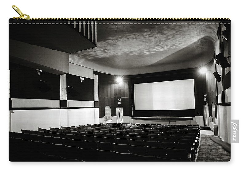 Americana Carry-all Pouch featuring the photograph Old Theatre 3 by Marilyn Hunt