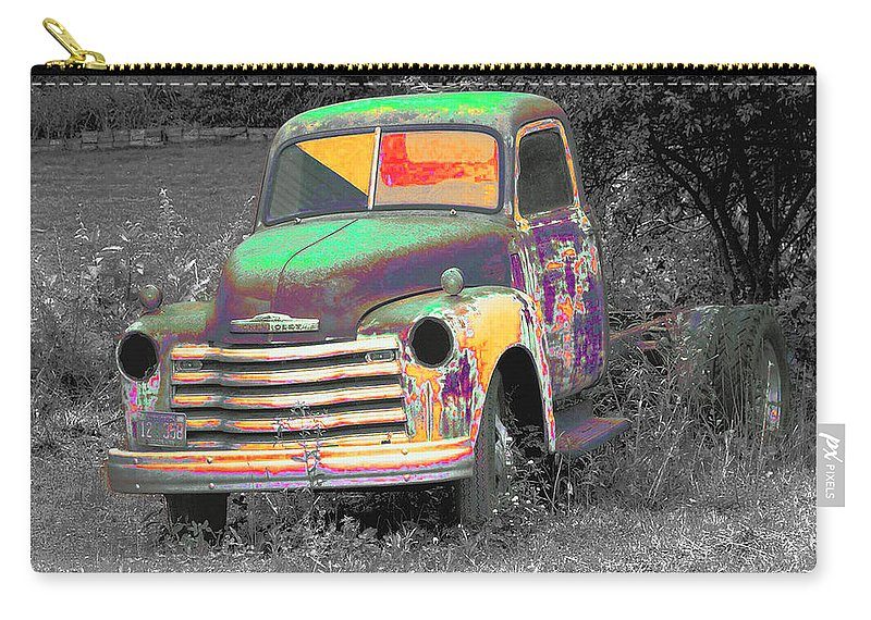 Car Carry-all Pouch featuring the digital art Old Timer by Robert Meanor