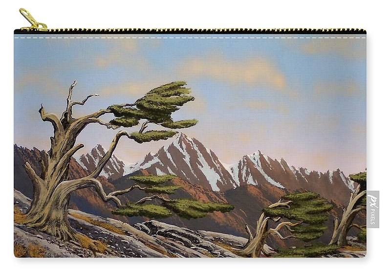 Mountains Carry-all Pouch featuring the painting Old Timers by Frank Wilson