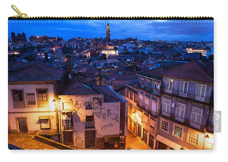 Porto Carry-all Pouch featuring the photograph Old Town Of Porto In Portugal At Dusk by Artur Bogacki
