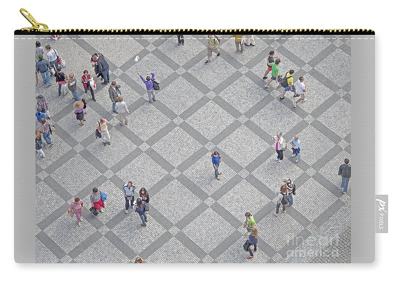 Old Town Square Carry-all Pouch featuring the photograph Old Town Square - Prague by Ann Horn