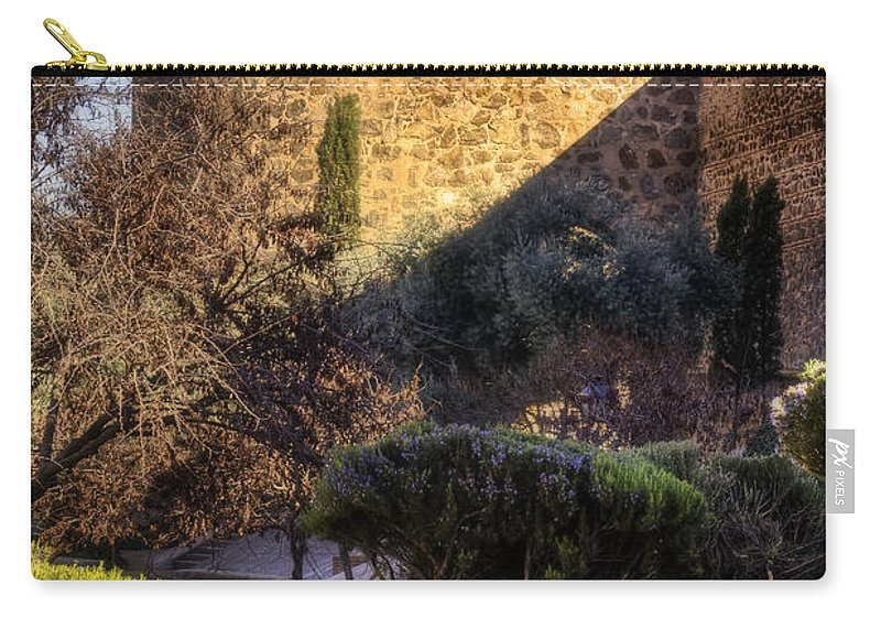Ancient Carry-all Pouch featuring the photograph Old Town Walls Toledo Spain by Joan Carroll