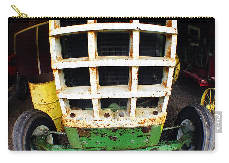 Clay Carry-all Pouch featuring the photograph Old Tractor by Clayton Bruster