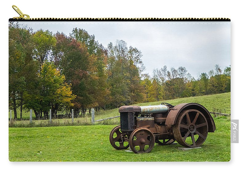 Landscape Carry-all Pouch featuring the photograph Old Tractor by Richard Kitchen