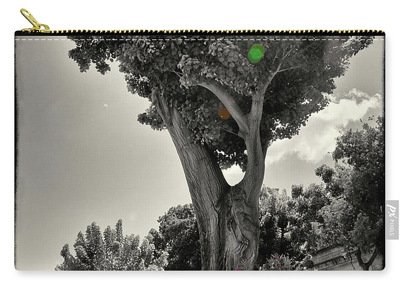 Tree Carry-all Pouch featuring the photograph Old Tree In Sicily by Madeline Ellis