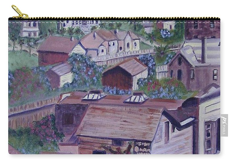 Ventura Carry-all Pouch featuring the painting Old Ventura by Laurie Morgan