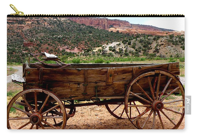Old Wagon Carry-all Pouch featuring the photograph Old Wagon by George Tuffy