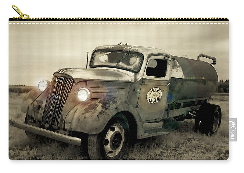 4d1718f13e Old Carry-all Pouch featuring the photograph Old Water Truck by Sara  Stevenson