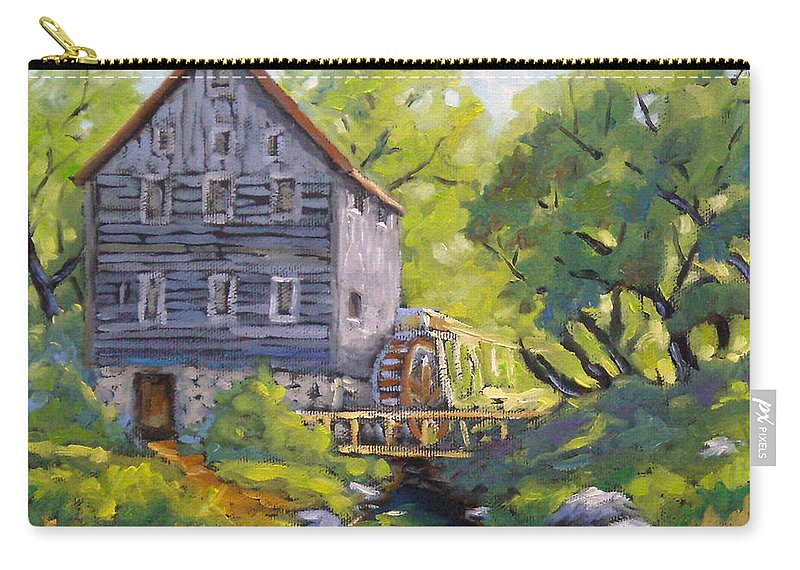 Art Carry-all Pouch featuring the painting Old Watermill by Richard T Pranke