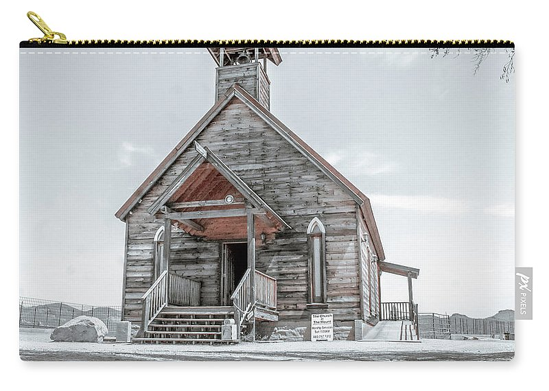 Old Carry-all Pouch featuring the photograph Old West Church by Darrell Foster