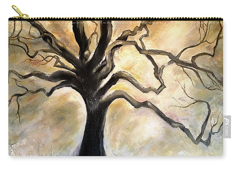 Tree Carry-all Pouch featuring the painting Old Wise Tree by Ahmed Al-Saleh