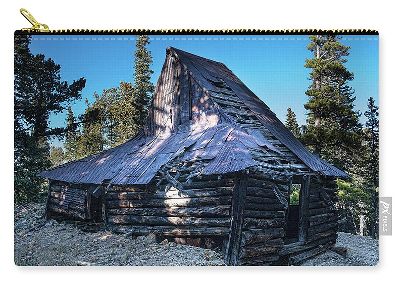 Rustic Carry-all Pouch featuring the photograph Old Witch Hat Gold Mine by James BO Insogna
