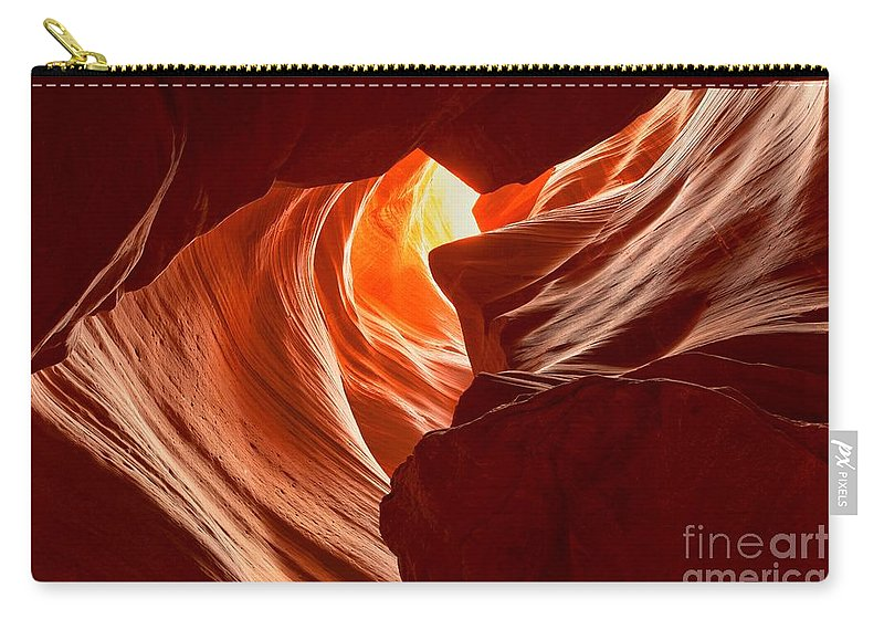Woman In The Canyon Carry-all Pouch featuring the photograph Old Woman In The Canyon by Adam Jewell