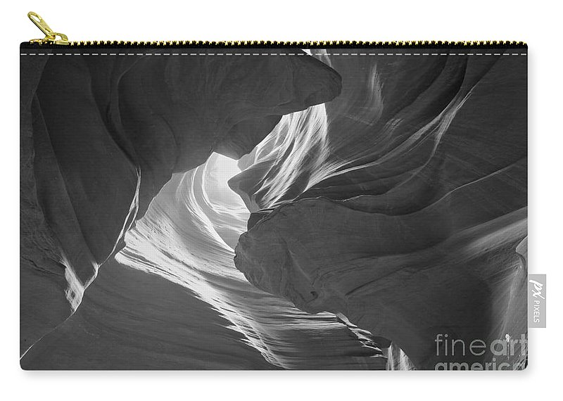 Black And White Carry-all Pouch featuring the photograph Old Woman In The Canyon Black And White by Adam Jewell