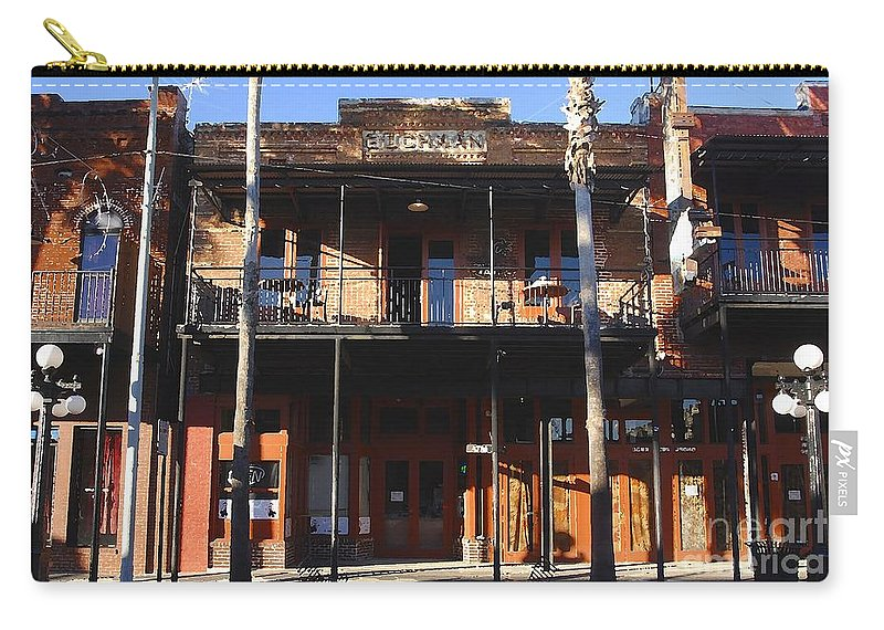 Ybor City Florida Carry-all Pouch featuring the photograph Old Ybor by David Lee Thompson