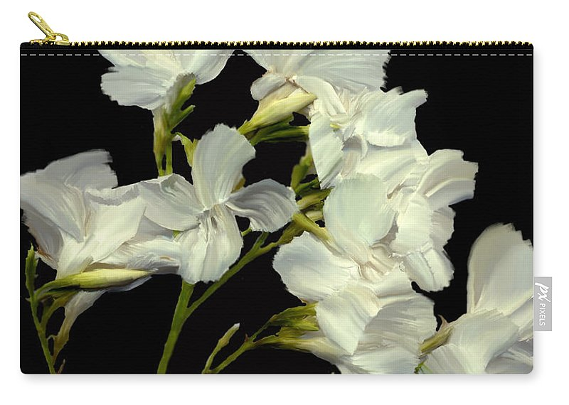 Flowers Carry-all Pouch featuring the photograph Oleander by Kurt Van Wagner